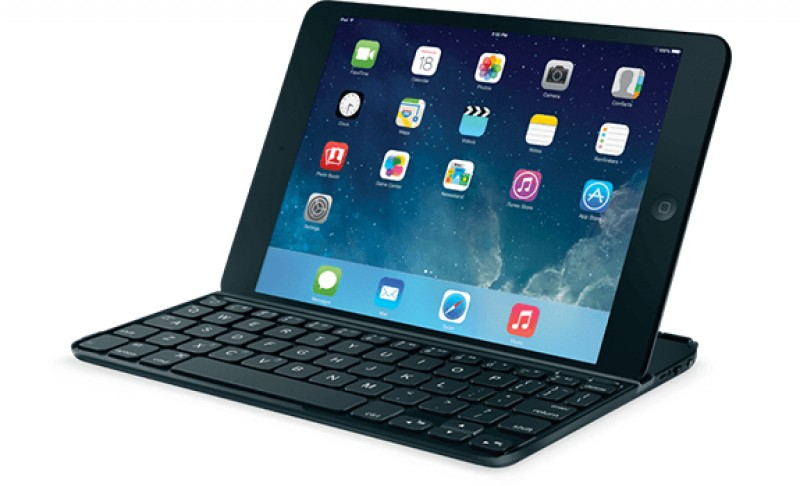 Teclado PAN Nordic Logitech Ultrathin Magnetic Clip on Keyboard Cover iPad mini y Retina SPACE GREY