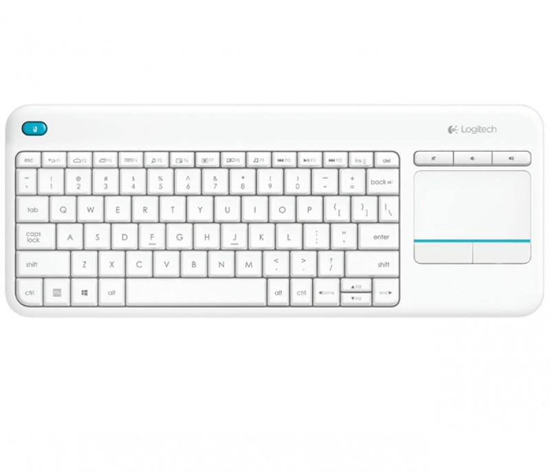 Teclado Español Logitech Wireless TOUCH Keyboard K400 Plus ESP blanco