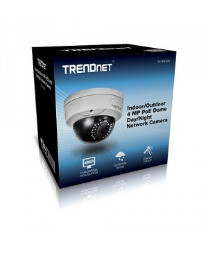 trendnet Camara Indoor/Outdoor 4 MP PoE Dome Day/Night Network Camera model TV-IP315PI