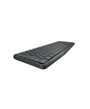 Teclado + Raton Ingles US Logitech MK235 Wireless Keyboard Combo GREY US INTL 2.4GHZ INTNL