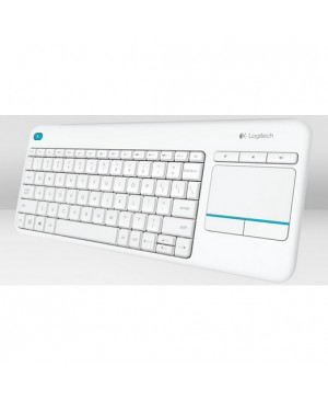 Teclado Italiano Logitech Wireless Touch Keyboard K400 Plus WHITE ITA 2.4GHZ MEDITER WIRELESS TOUCH