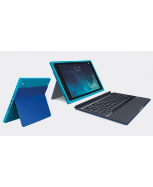 Teclado Aleman Logitech Blok Protective Keyboard Case for iPad Air 2 TEAL BLUE DEU BT BLOK