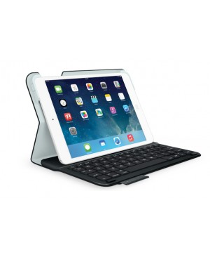 Teclado Aleman Logitech Ultrathin Keyboard Folio for iPad mini y mini 2 BLACK SYNTH DEU
