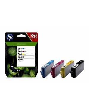 Tinta HP #364 B/C/M/Y COMBO 4-PACK BLISTER