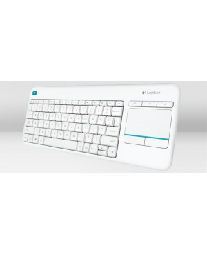 Teclado Aleman Logitech Wireless Touch Keyboard K400 Plus WHITE DEU CENTRAL