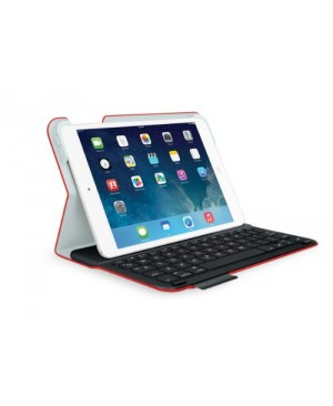 Teclado Aleman Logitech Ultrathin Keyboard Folio for iPad mini y mini 2 RED SYNTH DEU