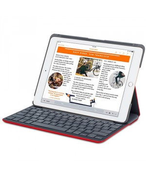 Teclado Frances Logitech Canvas Keyboard Case for iPad Air 2  RED ORANGE FRA BT