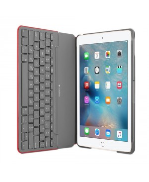 Teclado Italiano logitech Canvas Keyboard Case for iPad Air 2 MARS RED ORANGE ITA BT MEDITER SYNT CA