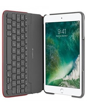 Teclado Aleman Logitech CANVAS Keyboard Case For iPad mini mini 2 mini 3 RED DEU