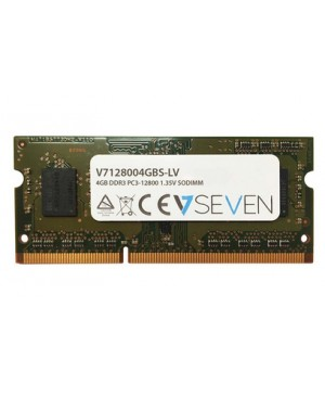 V7 V7128004GBS-LV Notebook DDR3 SO-DIMM Arbeitsspeicher 4GB 1600MHZ CL11 PC3-12800 204pin 1.35