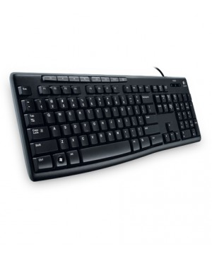 Teclado Ingles US Logitech Keyboard K200 for Business BLK US INTL USB EMEA