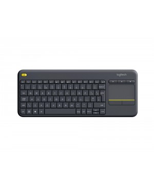 Teclado Ingles UK Logitech Wireless Touch Keyboard K400 Plus DARK UK INTNL