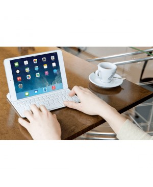 Teclado Suizo Logitech Ultrathin Magnetic Clip on Keyboard Cover for iPad mini +Retina SPACE GREY