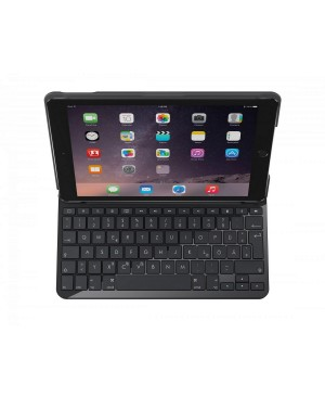 Teclado Logitech Alemán SLIM FOLIO Bluetooth keyboard for iPad (5th generation) CARBON BLACK DEU BT