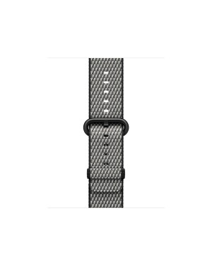APPLE 38MM BLACK CHECK WOVEN NYLON .