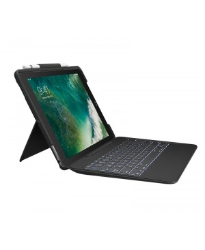 Teclado Logitech Alemán SLIM COMBO detachable keyboard Smart Connector iPad Pro 10.5in BLACK DEU