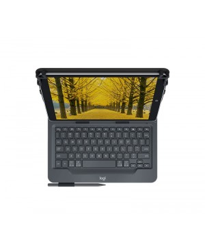 Teclado Italiano Logitech Universal Folio with integrated keyboard for 9 10 inch tablets ITA BT